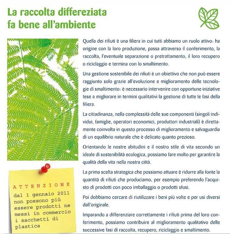 ... per una raccolta differenziata efficace - Sanzioni previste - Come  conferire i rifiuti - Glossario ceca102ebc5